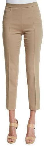 Akris Punto Franca High-Waist Cropped Pants, Sable