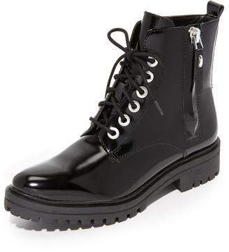 KENDALL + KYLIE Jordana Combat Boots $199 thestylecure.com