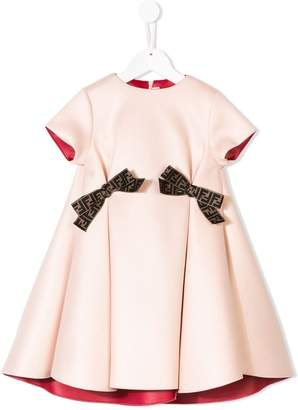 Fendi contrast bow dress