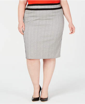 Calvin Klein Plus Size Piped-Trim Skirt