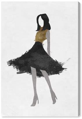 """Oliver Gal Gallery Silhouette of a Girl Canvas Print - 10\""""x15\"""""""