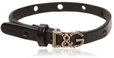Dolce & Gabbana Logo Leather Bracelet