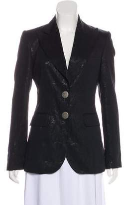 Thomas Wylde Structured Brocade Blazer