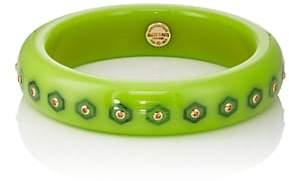 Mark Davis Women's Bakelite & Yellow-Sapphire Bangle-Green