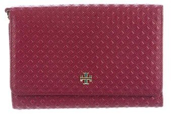 Tory Burch Tory Burch Diamond Embossed Leather Wallet