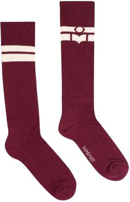Isabel Marant Cotton Logo Socks