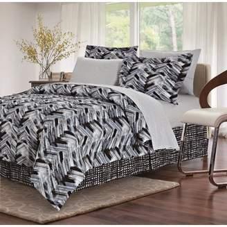 Tribeca Brown & GreyTM Black 8-piece Bed-In-Bag