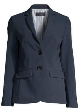Piazza Sempione Single-Breasted Stretch-Wool Blazer