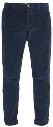 J.w.brine J.W. Brine J.w. Brine - Marshall Cotton Blend Corduroy Trousers - Mens - Navy