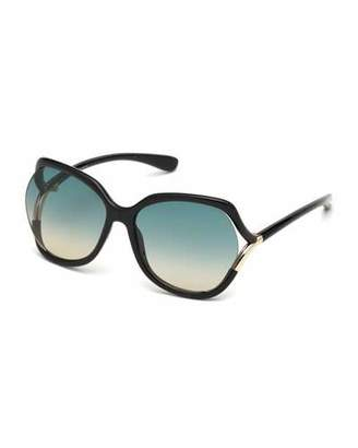 Tom Ford Open-Temple Gradient Sunglasses