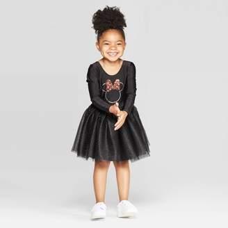 Minnie Mouse Toddler Girls' Minnie Mouse Halloween Tutu Dress - Black