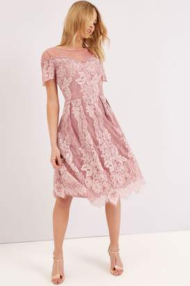 Outlet Little Mistress Dusty Pink Lace Dress