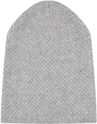 William Sharp Knitted Cashmere Embellished Hat
