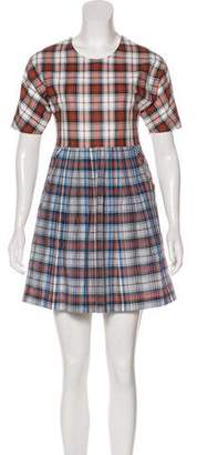 Kule Plaid Mini Dress