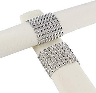Aytai Rhinestone Mesh Bling Napkin Rings for Wedding Decoration