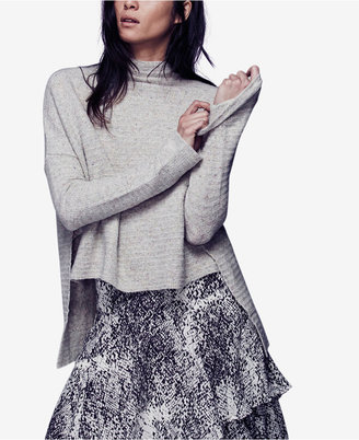 Free People Arctic Fox Ribbed Mock-Turtleneck Sweater $128 thestylecure.com