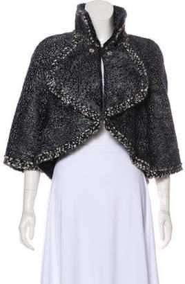 Chanel Shearling Metallic Jacket