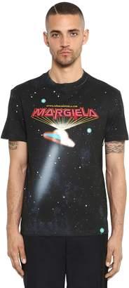 Maison Margiela Ufo Logo Printed Cotton Jersey T-Shirt