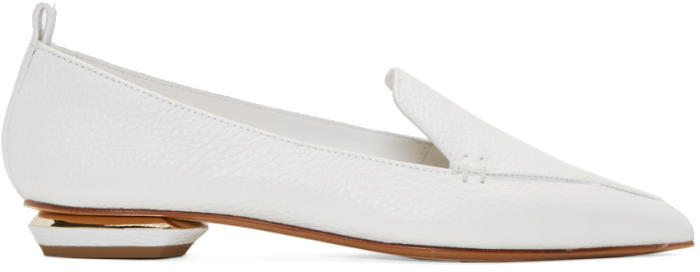 Nicholas Kirkwood White Leather Beya Loafers