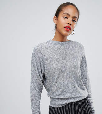 Asos Tall DESIGN Tall fine sweater with grown on sleeve in melange yarn