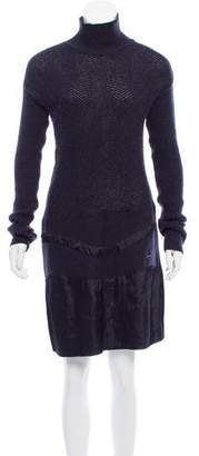 CNC Costume National Wool-Blend Turtleneck Dress