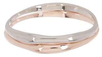 14th & Union Shiny Molten Bangle Bracelet - Set of 2