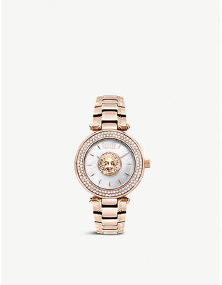 Versus Crystal-embellished silver and stainless steel watch