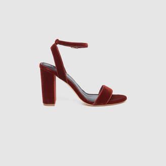 Sandro Velvet heeled sandals