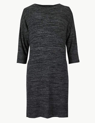 Marks and Spencer Textured Cosy 3/4 Sleeve Shift Dress