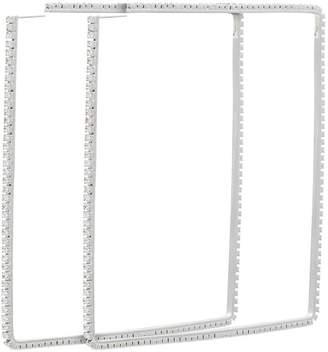 Area silver metallic 4 dewi square crystal earrings