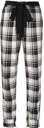 Dresshirt plaid pajama-style bottoms
