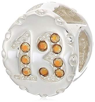 Swarovski Chamilia lucky 13 - crystal metallic sunshine crystal charm