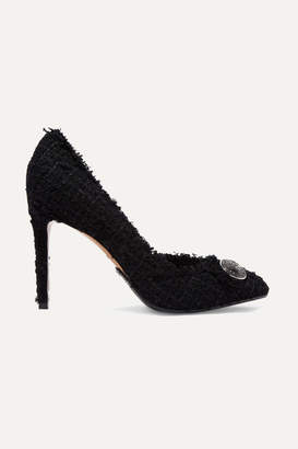 Balmain Julie Button-embellished Tweed Pumps - Black