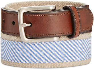 Men's Striped Casual Belt, Only at Macy's