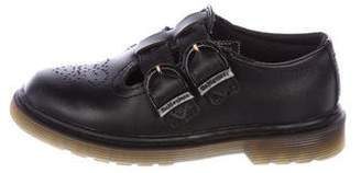Dr. Martens Kids Girls' Perforated Leather Shoes