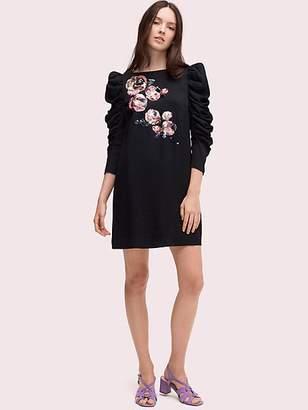 Kate Spade Sequin Embellished Mini Dress, Black - Size 0