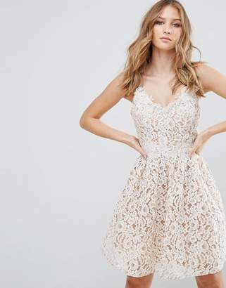 Little Mistress Lace Mini Dress