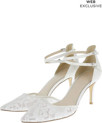 Monsoon Lyla Lace Point Two Part Heels