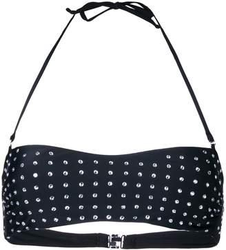 Moschino embellished bikini top