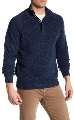 Weatherproof Denim Heather Zip Sweater