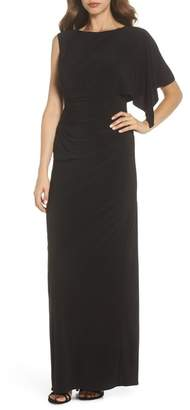 Adrianna Papell One Drape Sleeve Jersey Dress