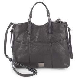 Everette Leather Crossbody Satchel $248 thestylecure.com