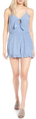 Women's Everly Tie Front Romper $45 thestylecure.com