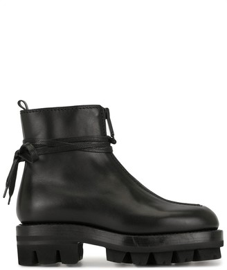 Alyx ridged rubber sole boots