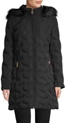 Calvin Klein Down Faux Fur Trimmed Parka