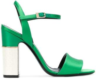 Pollini ankle buckled sandals