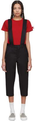 Comme des Garcons Black Wool Suspender Trousers