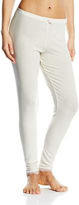 Charnos Women's Cocoon Thermal Long Pant Thermal Trousers, Ivory/Pink