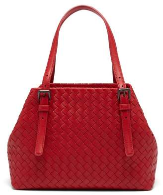 Bottega Veneta Intrecciato Small Leather Tote - Womens - Red