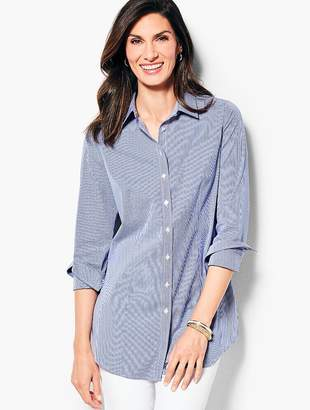 Talbots Longer Length Perfect Shirt- Gingham